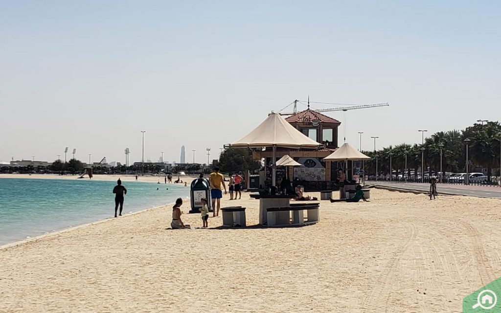 al mamzar beach near hor al anz