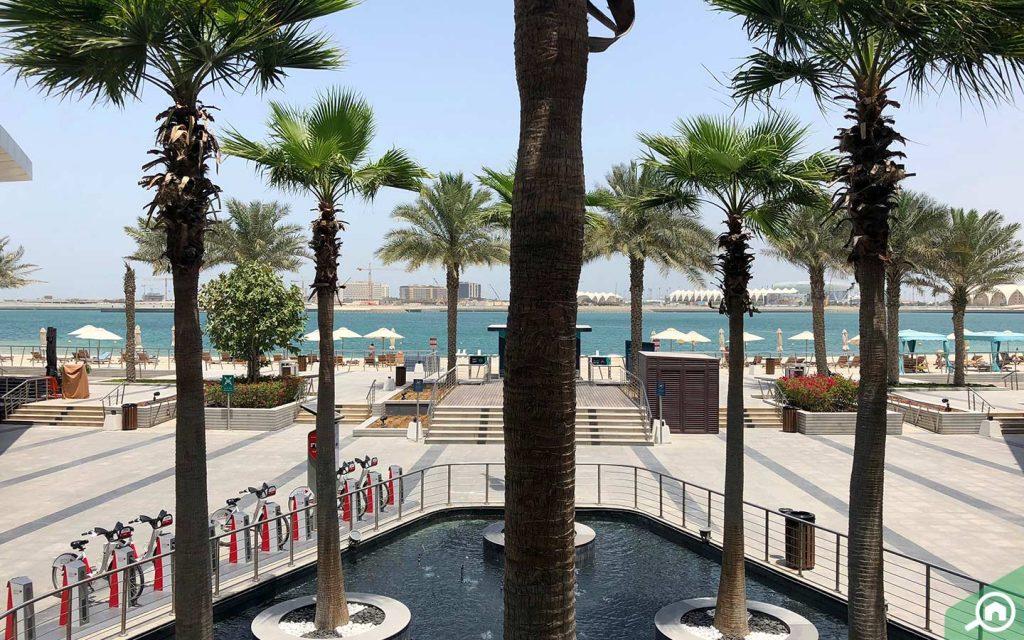 living in al raha beach