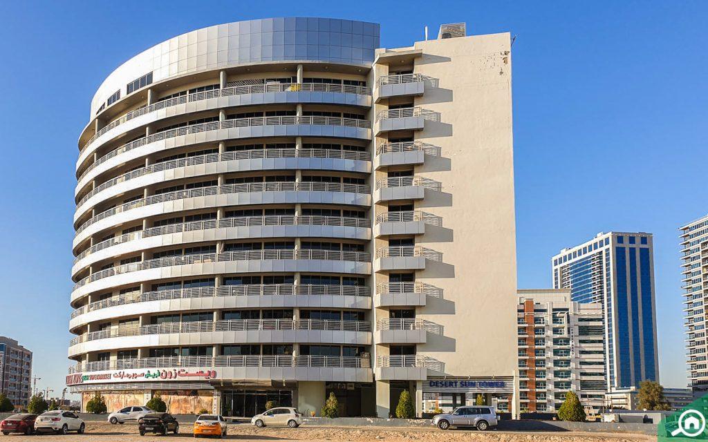 desert sun tower apartments in dubai residence complex