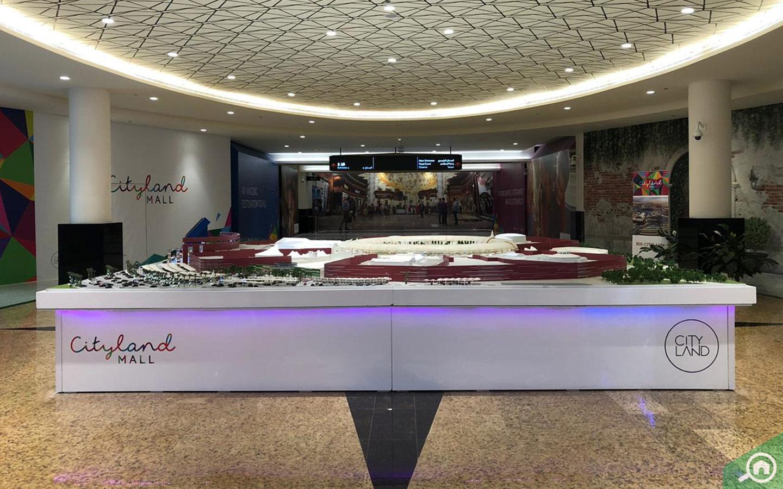 Interior view of Cityland Mall