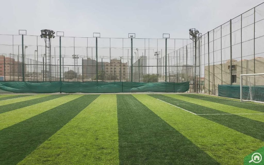 Football field in Al Nakheel