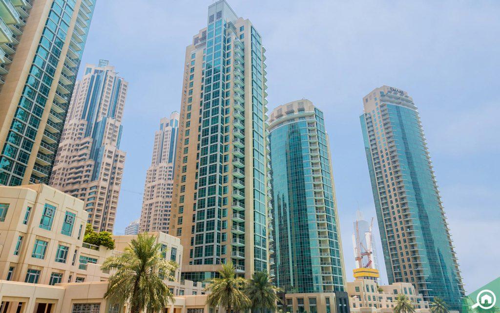 مباني منطقة داون تاون دبي