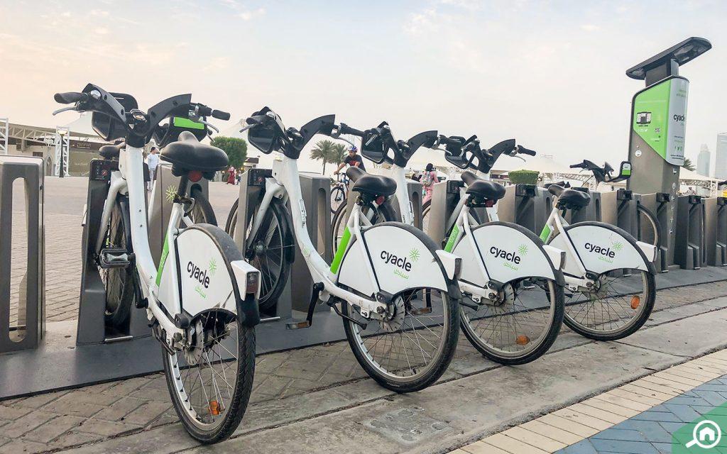 الدراجات في الخالدية ابوظبي