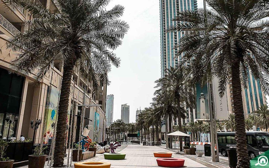 شوارع مدينة وسط دبي