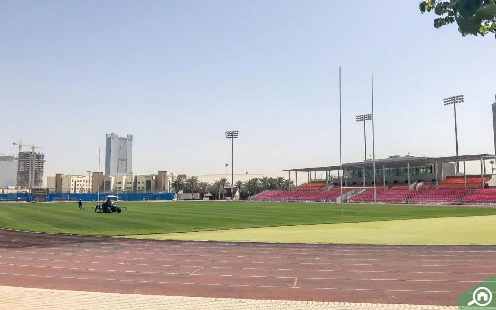 Stadium training pitches in DSC