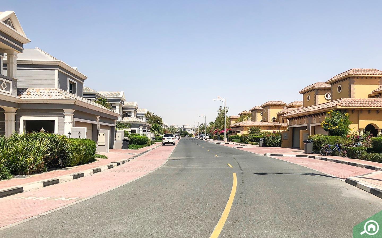 شارع فرعي في المجمع